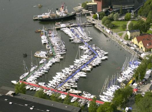 Den flytande båtmässan i Vasahamnen