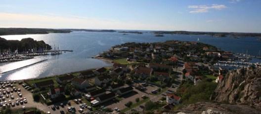 Hamnen i Ellös, där Hallberg-Rassy har sitt varv