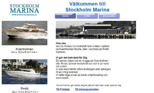 Stockholm marina på Rindö och Kvarnholmen