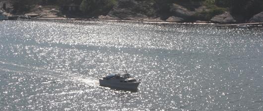 Båten på bilden har inget med Båtpoolen att göra